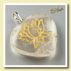 Lotus flower - heart pendant of crystal quartz