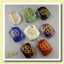 Clover - pendant engraved