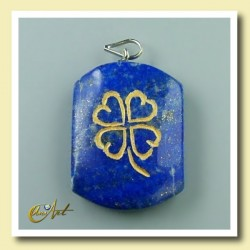 Trébol – colgante grabado de lapislázuli