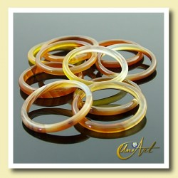 pack of 10 Thin Ring of Brown Agate