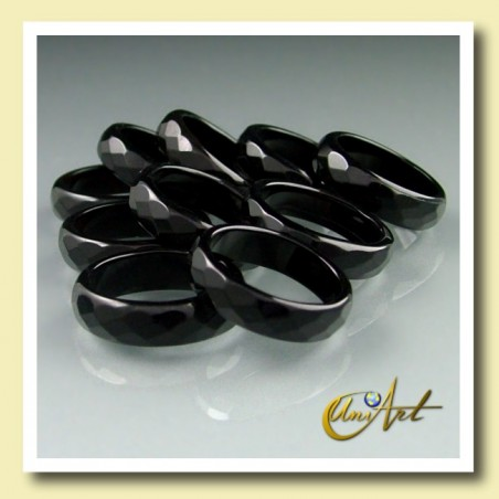 black onyx ring briolette medium pack