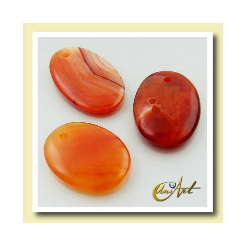 Carnelian pendant without metal