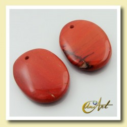 Red jasper pendant without metal