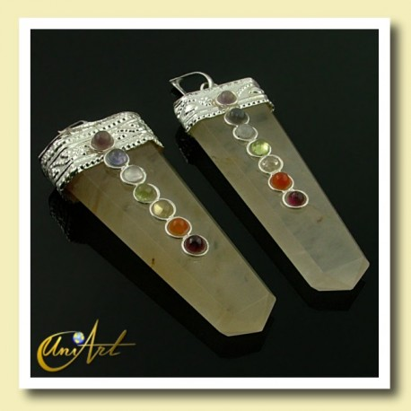 7 Chakras Pendant - yellow quartz