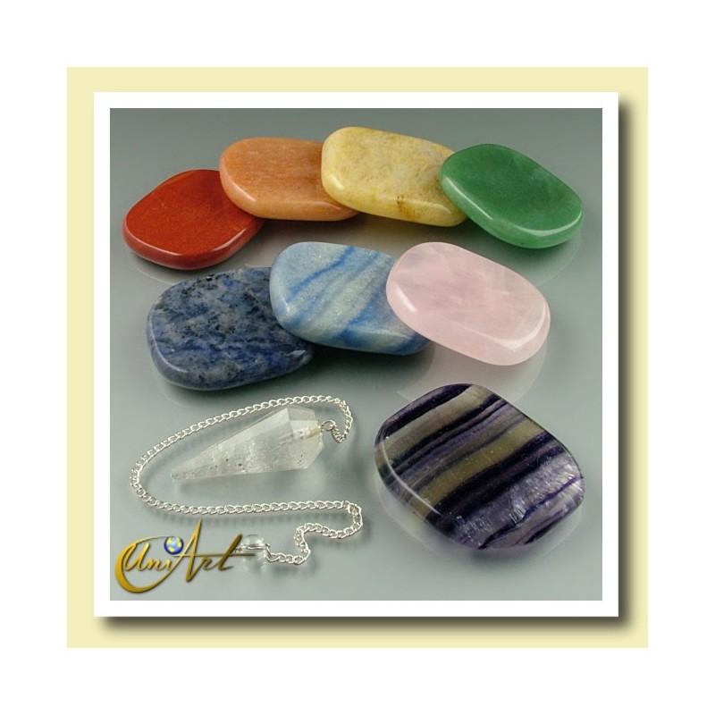 Chakra Set - stones and pendulum
