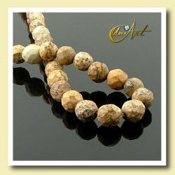 Picture Jasper Bead - 06 mm Round faceted - detail