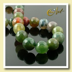 Indian Agate Bead - 10 mm Round faceted - detail