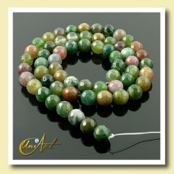 Indian Agate faceted Bead - 6 mm Round