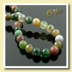 Indian Agate faceted Bead - 6 mm Round - detail
