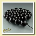 Strings 16mm Black Agate - Faceted Bead