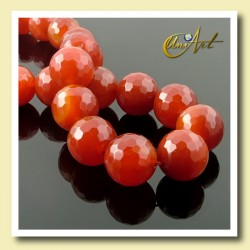 Carnelian Faceted - 18mm beads - detail