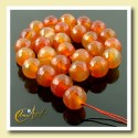 Carnelian 14 mm, faceted beads Strings