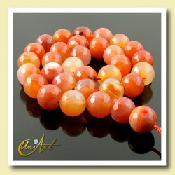 Faceted Carnelian Beads 12mm