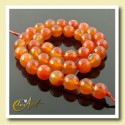 10 mm round beads of Carnelian