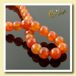 10 mm round beads of Carnelian - detail
