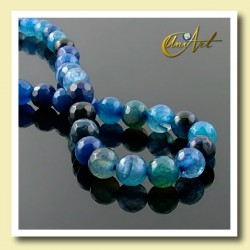 Blue Agate faceted Beads - 6 mm