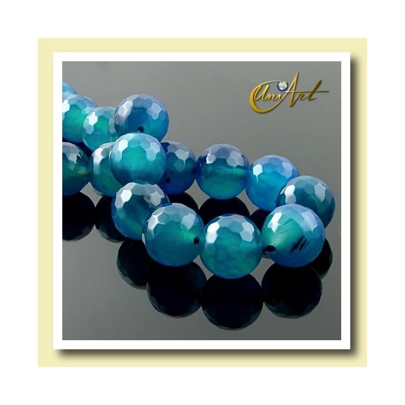 Hilos de Bolas de Ágata Azul -detail