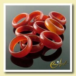 Carnelian ring width - pack