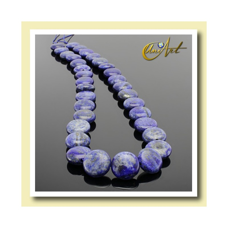 Lapis Lazuli - lentils 12x6 mm