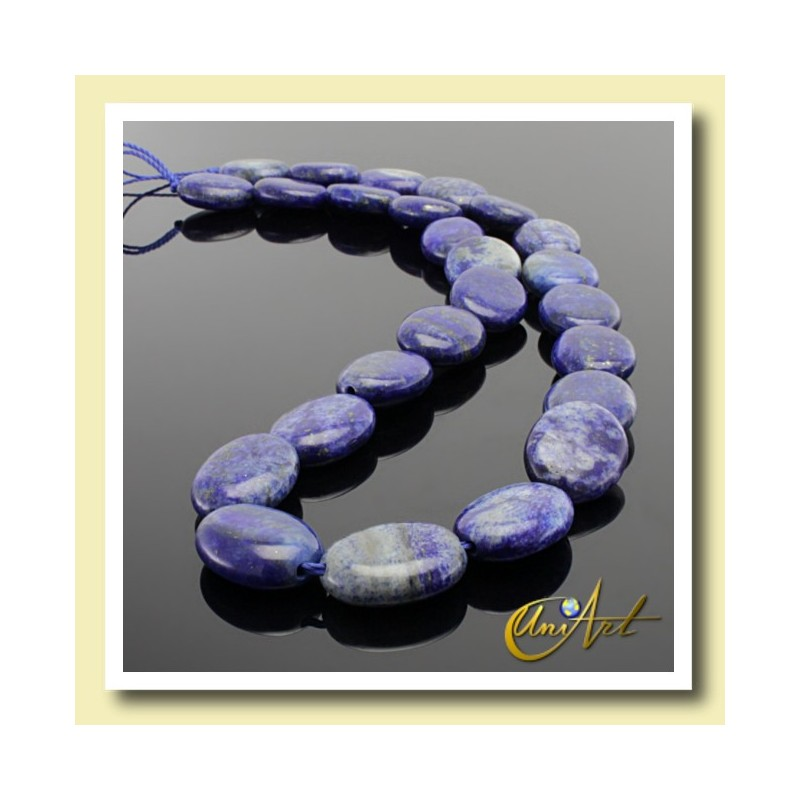 strands of oval lapis lazuli beads