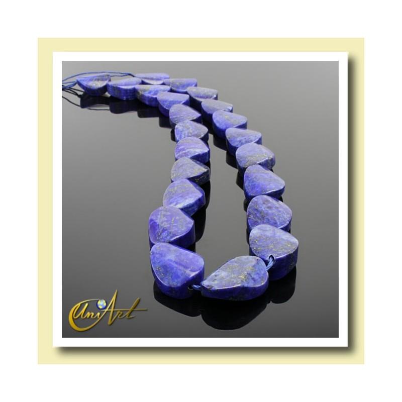 Lapis Lazuli - twisted oval beads