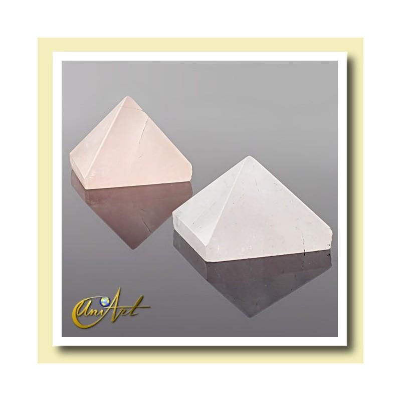 1.5 cm rose quartz pyramid