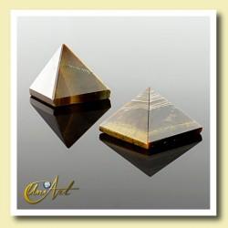 1.5 cm tiger eyes pyramid