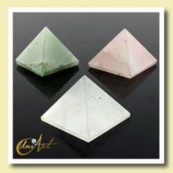 Pirámide de 2,5 cm - cuarzos