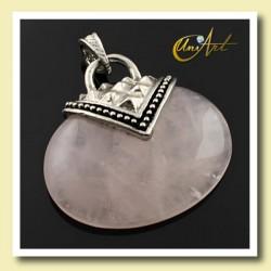 Rose quartz pendant esparta model