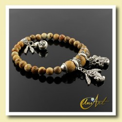 Picture Jasper bracelet of money