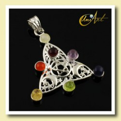 Chakra pendant with Wiccan symbol