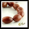 Piedra oro talla aceituna