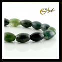 Moss Agate olive shape beads