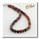 6 mm faceted round beads of Brown Agate