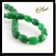 Green jade olive shape beads