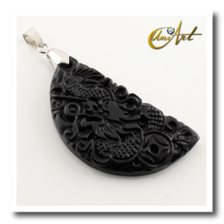Dragon pendant of bian stone