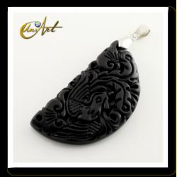 Fénix Chinese pendant of bian stone