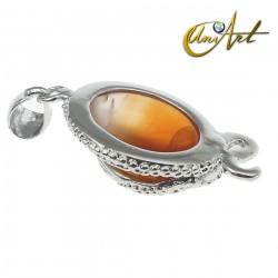 Snake pendant with carnelian
