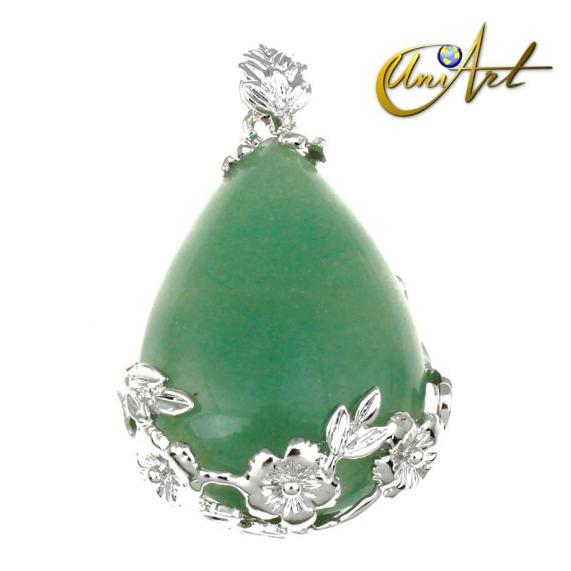 Green Aventurine Drop Pendant