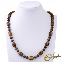 Tiger Eye Necklace - Barrel