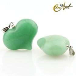 Heart pendant valentin model of green aventurine
