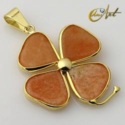 Golden color clover pendant