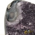 Amethyst druse with moss agate
