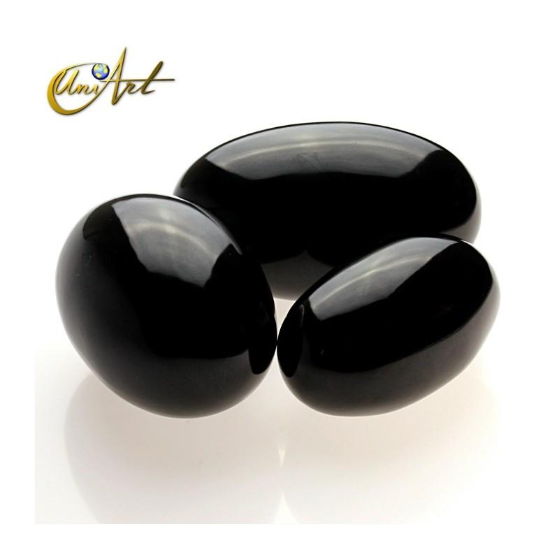 Obsidiana negra - Shiva-lingam