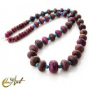 Agate and turquenite necklace
