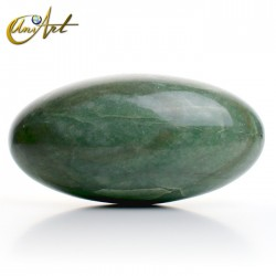 Green quartz Shiva-lingam