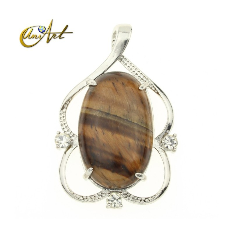 Oval pendant of tiger eye classical model