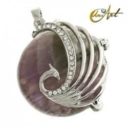 Fenghuang pendant (Chinese Phoenix) amethyst