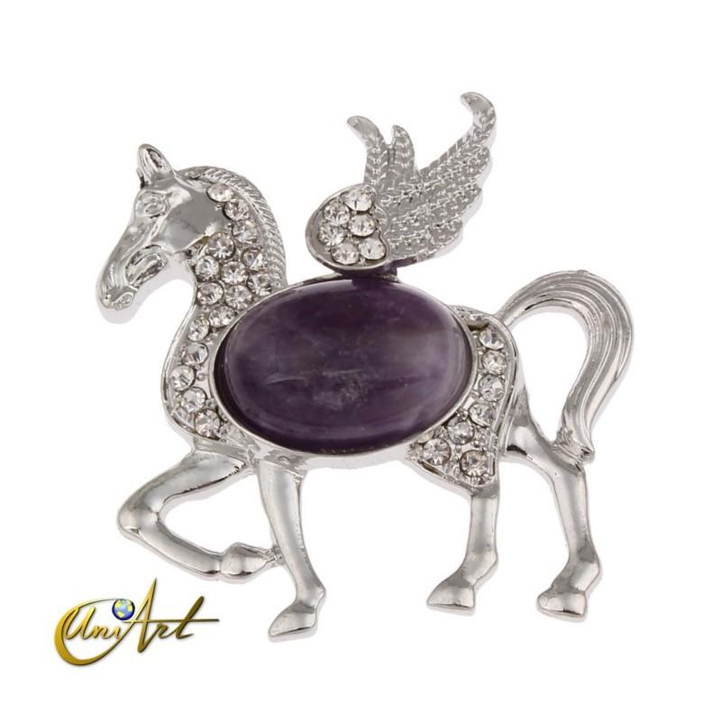 Pegasus, amethyst pendant