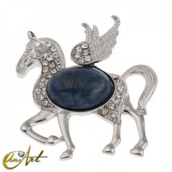 Pegasus, lapis lazuli pendant